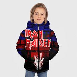 Детская зимняя куртка для мальчика с принтом Iron Maiden, цвет: 3D-черный, артикул: 10201644706063 — фото 2