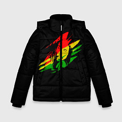 Куртка зимняя для мальчика Боб Марли цвета 3D-черный — фото 1