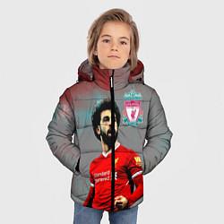 Куртка зимняя для мальчика Mohamed Salah цвета 3D-черный — фото 2