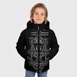 Куртка зимняя для мальчика EVa-updown цвета 3D-черный — фото 2