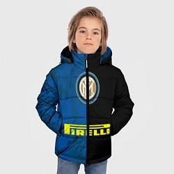 Детская зимняя куртка для мальчика с принтом Интер, цвет: 3D-черный, артикул: 10209022506063 — фото 2