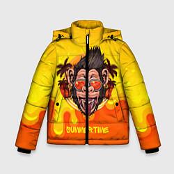 Куртка зимняя для мальчика Summertime обезьяна цвета 3D-черный — фото 1