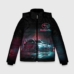 Куртка зимняя для мальчика SUBARUСпина цвета 3D-черный — фото 1