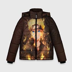 Куртка зимняя для мальчика НАРУТО цвета 3D-черный — фото 1