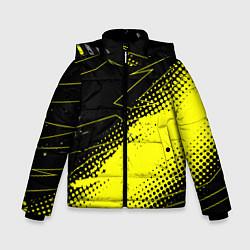 Куртка зимняя для мальчика Bona Fide Одежда для фитнеcа цвета 3D-черный — фото 1