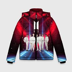 Куртка зимняя для мальчика BTS цвета 3D-черный — фото 1