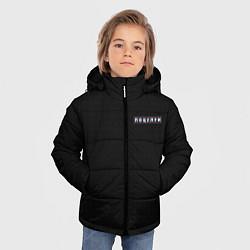 Куртка зимняя для мальчика Поцелуи нашивка на спине цвета 3D-черный — фото 2