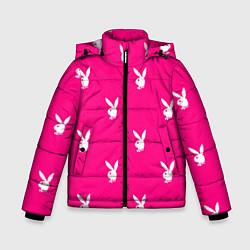 Куртка зимняя для мальчика PLAYBOY цвета 3D-черный — фото 1