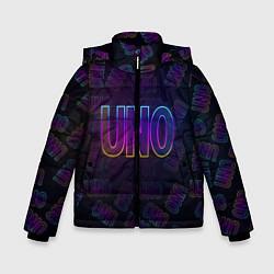 Куртка зимняя для мальчика Little Big: UNO цвета 3D-черный — фото 1