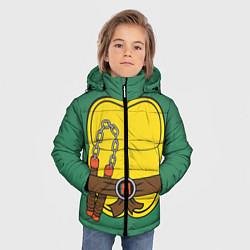 Куртка зимняя для мальчика Микеланджело Косплей цвета 3D-черный — фото 2