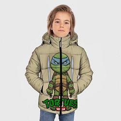 Куртка зимняя для мальчика Маленький Леонардо цвета 3D-черный — фото 2