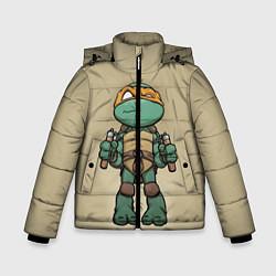 Куртка зимняя для мальчика Маленький Микеланджело цвета 3D-черный — фото 1
