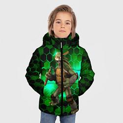 Куртка зимняя для мальчика Черепашки-ниндзя: Микеланджело цвета 3D-черный — фото 2