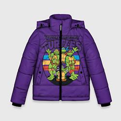 Куртка зимняя для мальчика Черепашки Ниндзя цвета 3D-черный — фото 1