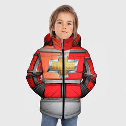 Куртка зимняя для мальчика CHEVROLET цвета 3D-черный — фото 2