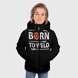 Куртка зимняя для мальчика Рожден для сварки цвета 3D-черный — фото 2