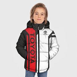 Куртка зимняя для мальчика Toyota Driver team цвета 3D-черный — фото 2