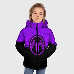Куртка зимняя для мальчика Веном цвета 3D-черный — фото 2