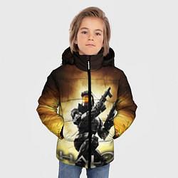 Куртка зимняя для мальчика Halo Infinite цвета 3D-черный — фото 2