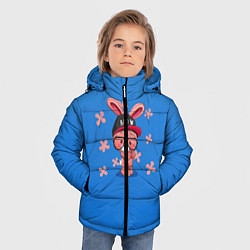 Детская зимняя куртка для мальчика с принтом Милый Заяц, цвет: 3D-черный, артикул: 10230917506063 — фото 2