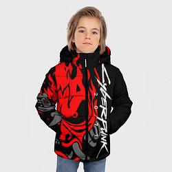 Куртка зимняя для мальчика CYBERPUNK 2077 SAMURAI цвета 3D-черный — фото 2