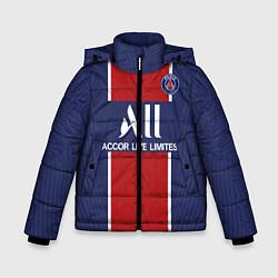 Куртка зимняя для мальчика PSG home 20-21 цвета 3D-черный — фото 1