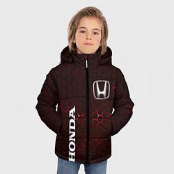Куртка зимняя для мальчика HONDA цвета 3D-черный — фото 2