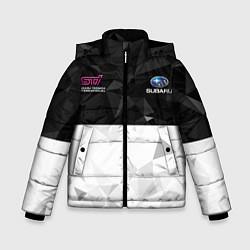 Куртка зимняя для мальчика SUBARU WRX STI спина Z цвета 3D-черный — фото 1