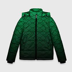 Куртка зимняя для мальчика Узор зеленая чешуя дракон - фото 1