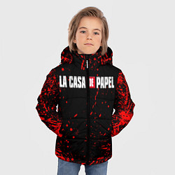 Куртка зимняя для мальчика La Casa de Papel спина Z цвета 3D-черный — фото 2