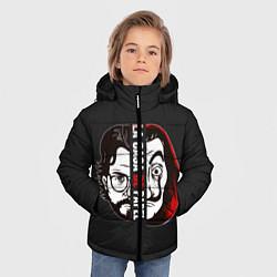Куртка зимняя для мальчика La casa de papel цвета 3D-черный — фото 2