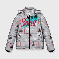 Куртка зимняя для мальчика Bold Spirit цвета 3D-черный — фото 1