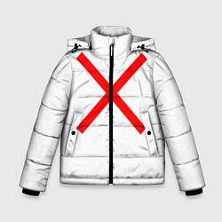 Куртка зимняя для мальчика Красный крест цвета 3D-черный — фото 1