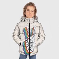 Куртка зимняя для мальчика PEACE and LOVE Z цвета 3D-черный — фото 2
