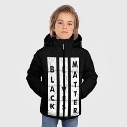 Куртка зимняя для мальчика Black lives matter Z цвета 3D-черный — фото 2
