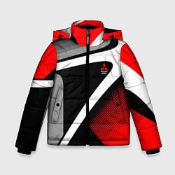 Куртка зимняя для мальчика Mitsubishi ФОРМА цвета 3D-черный — фото 1
