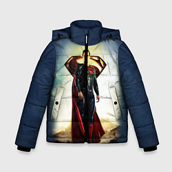 Куртка зимняя для мальчика Superman цвета 3D-черный — фото 1