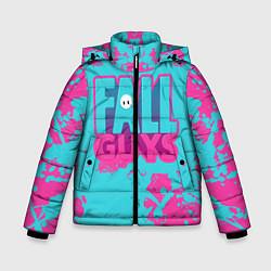 Куртка зимняя для мальчика Fall Guys: Ultimate Knockout цвета 3D-черный — фото 1