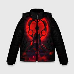 Куртка зимняя для мальчика Итачи Учиха цвета 3D-черный — фото 1