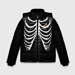 Куртка зимняя для мальчика Курочка в груди цвета 3D-черный — фото 1