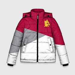 Куртка зимняя для мальчика AS Roma Red Design 2122 цвета 3D-черный — фото 1