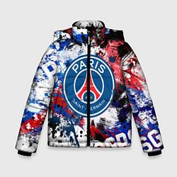 Куртка зимняя для мальчика PSG FC цвета 3D-черный — фото 1