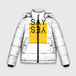 Куртка зимняя для мальчика SAY YES цвета 3D-черный — фото 1