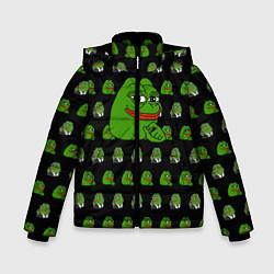 Куртка зимняя для мальчика Frog Pepe цвета 3D-черный — фото 1
