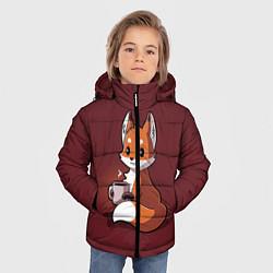 Куртка зимняя для мальчика Кофе любят не только люди цвета 3D-черный — фото 2