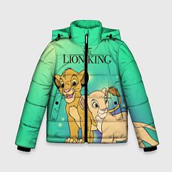 Куртка зимняя для мальчика Юные Симба и Нала цвета 3D-черный — фото 1