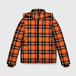 Куртка зимняя для мальчика Шотландская клетка цвета 3D-черный — фото 1