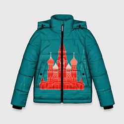 Детская зимняя куртка для мальчика с принтом Москва, цвет: 3D-черный, артикул: 10268434306063 — фото 1