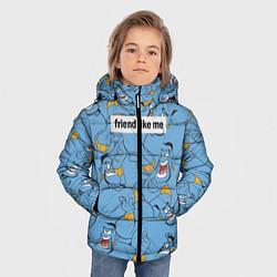 Куртка зимняя для мальчика Friend like me цвета 3D-черный — фото 2