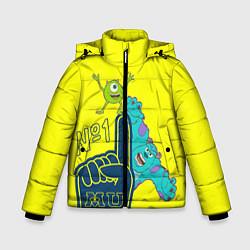 Куртка зимняя для мальчика Monsters цвета 3D-черный — фото 1